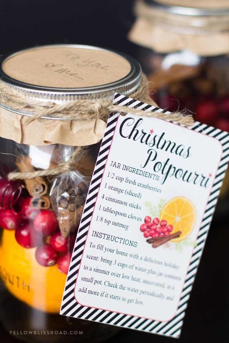 Christmas Mason Jar Potpourri