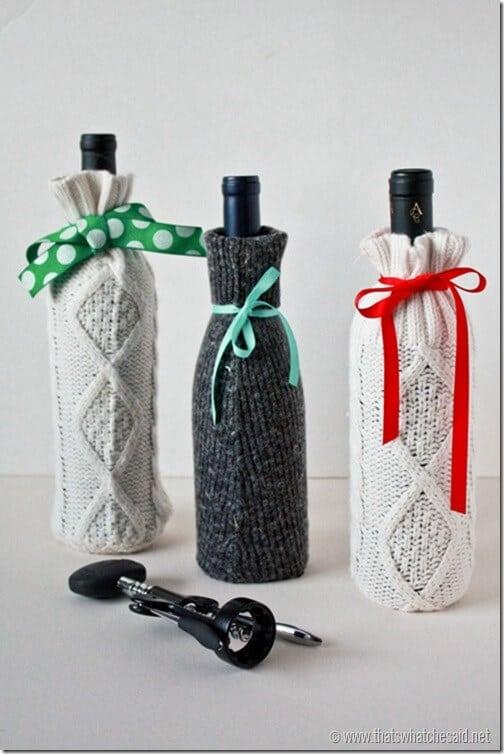 Sweater Sleeve Wine Gift Bags
