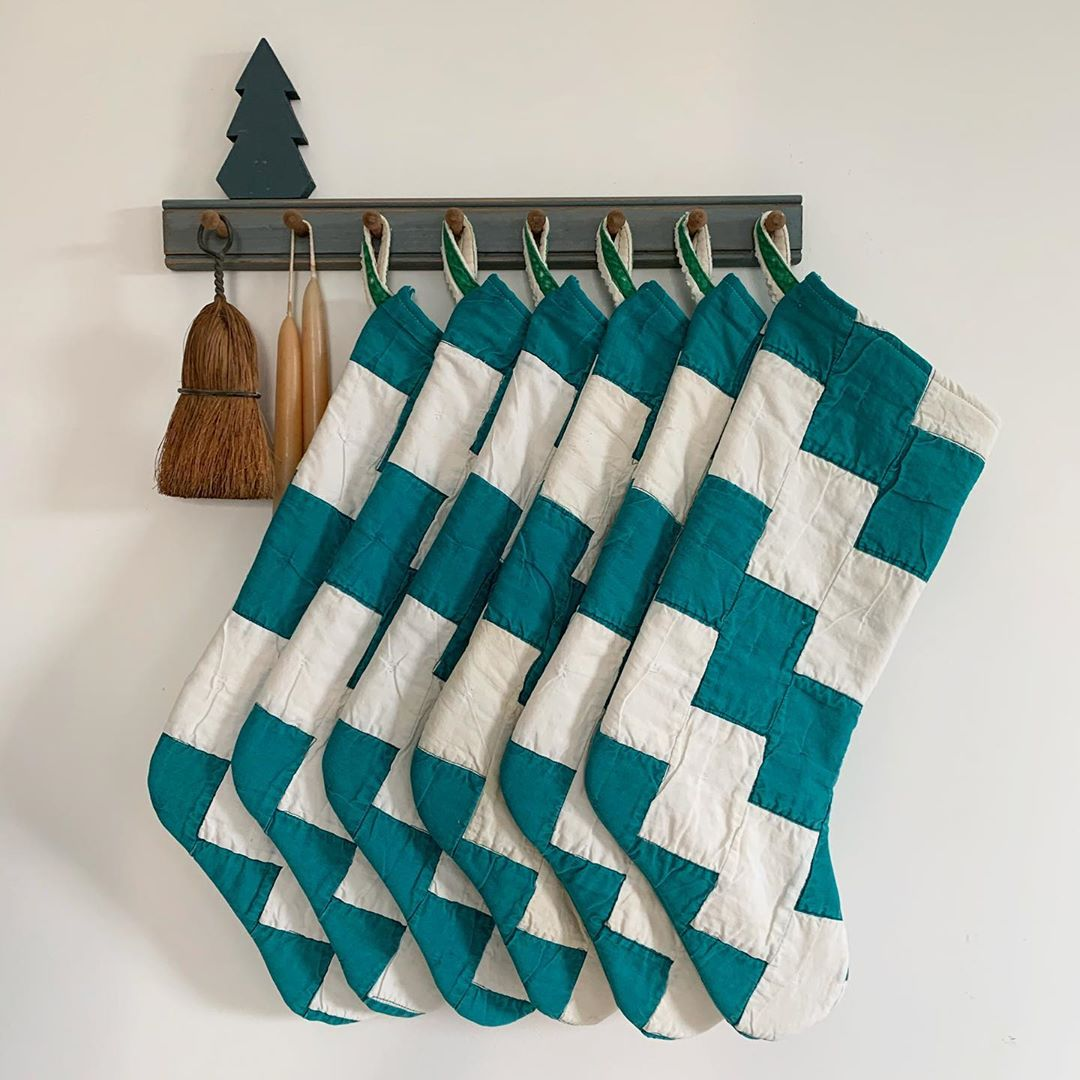 Retro Quilted Christmas Stockings
