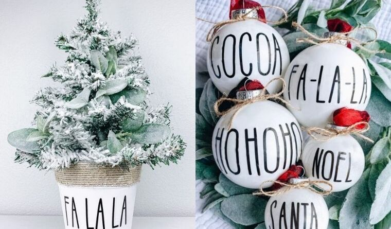 farmhouse christmas crafts