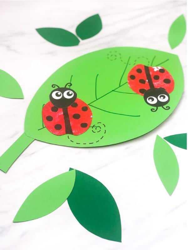 Apple Ladybug Stamp