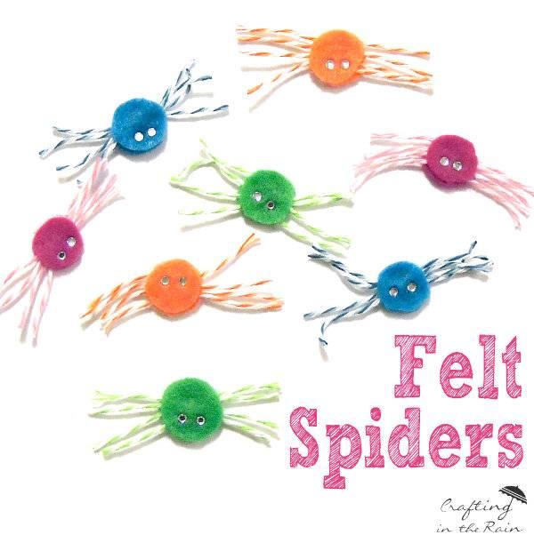 Felt Spiders