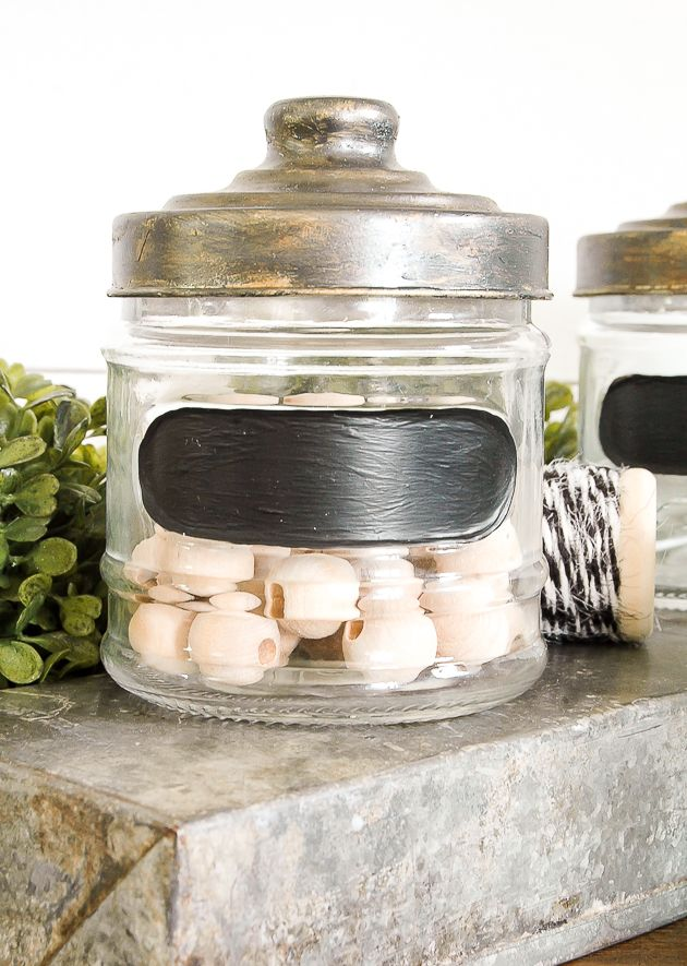 Farmhouse-Themed Dollar Store Jars