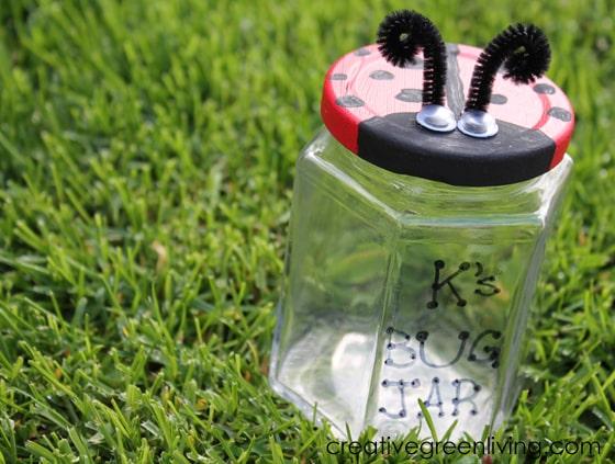 Recycled Ladybug Catcher Jar