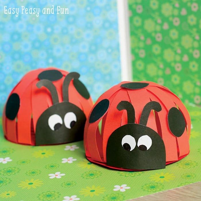 Paper Ladybug Dome Pets