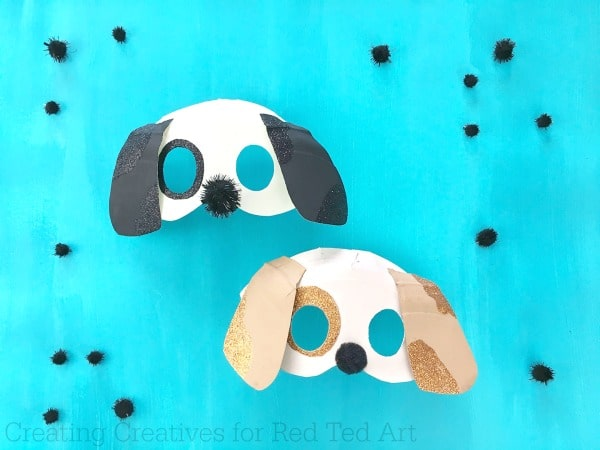 3D Paper Plate Dog Masks