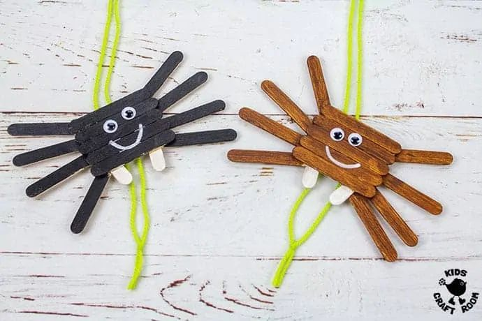 Climbing Popsicle Stick Spiders