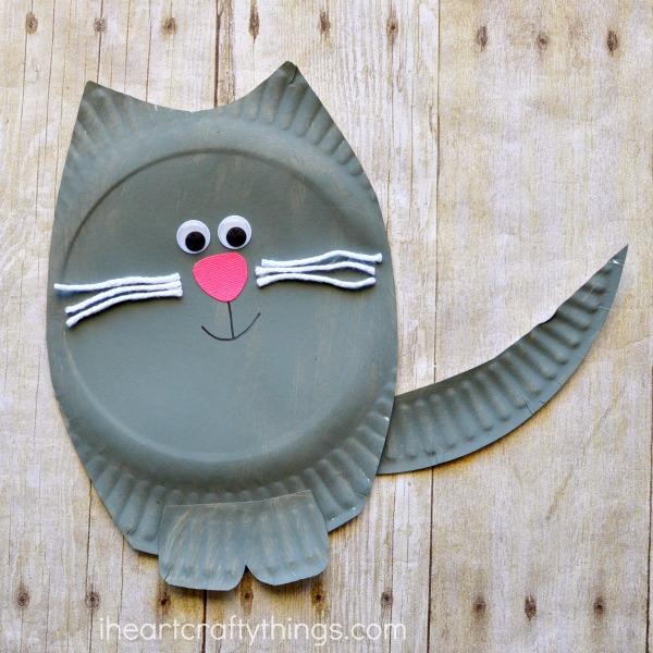 Paper Plate Cat