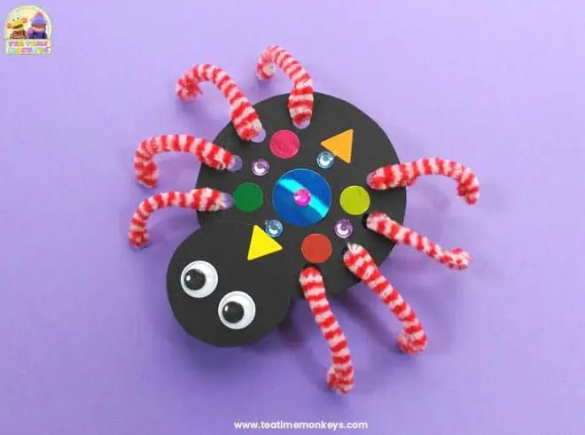 crawling paper spider