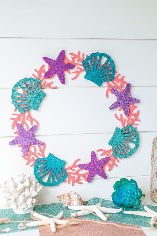 Glitter Mermaid Wreath