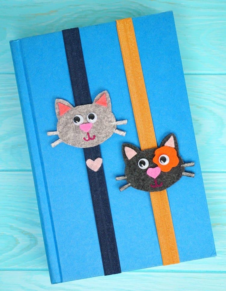 Felt Cat Bookmarks