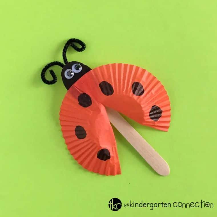Ladybug Spoon Puppets
