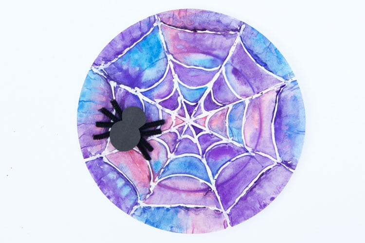 Watercolour Spider Web Paper Plate