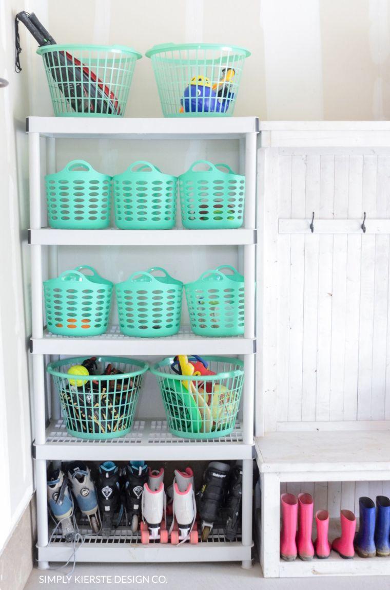 Organized Garage Baskets