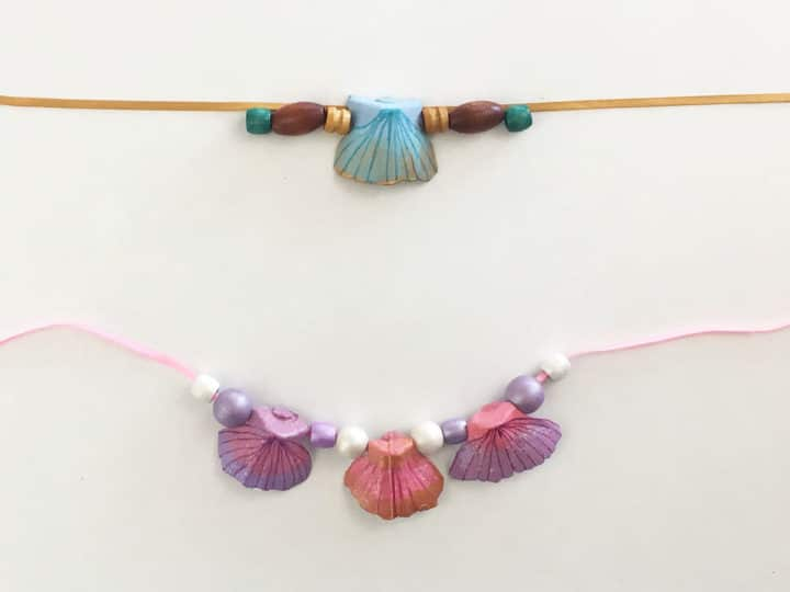 Egg Carton Mermaid Necklaces