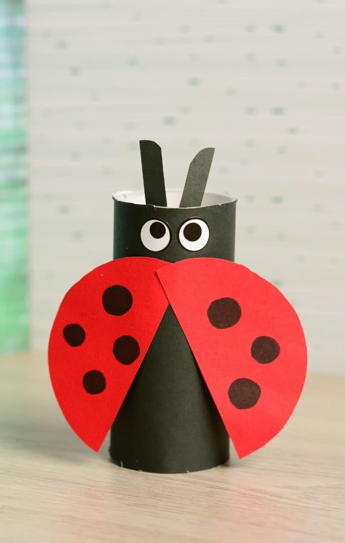 Toilet Paper Roll Ladybug