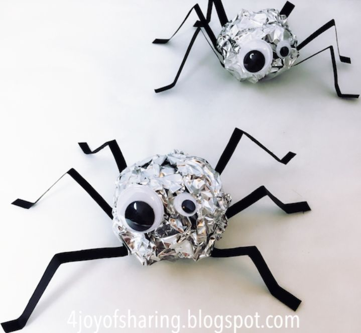 Aluminum Foil Spiders
