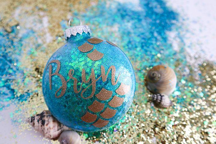 Mermaid Glitter Ornaments