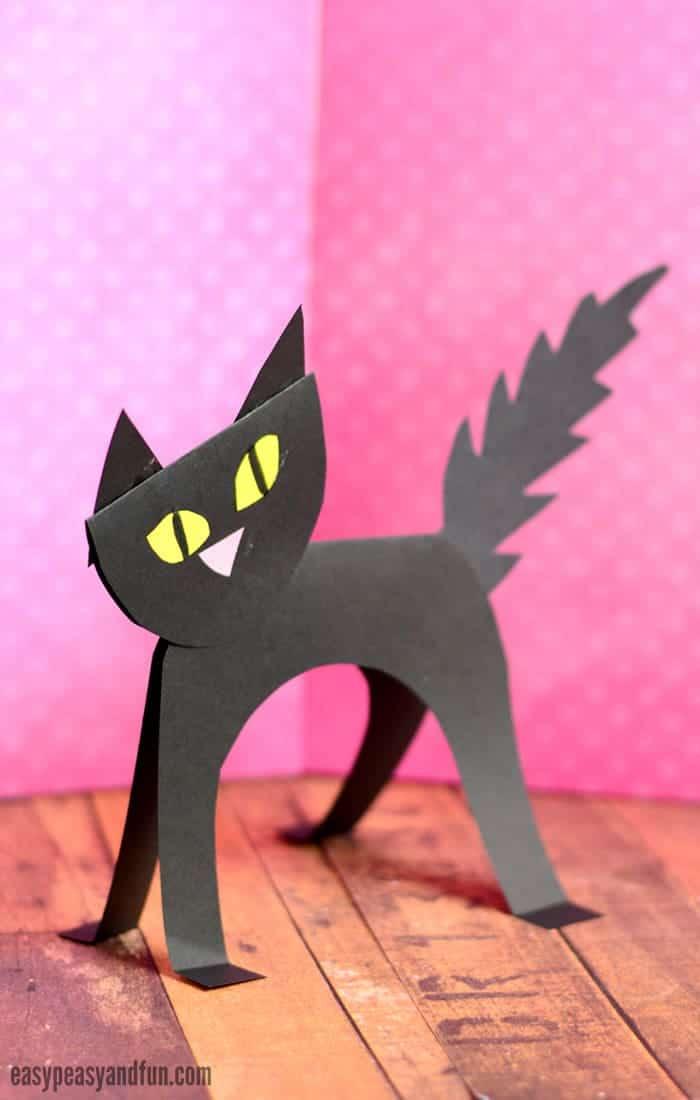 Black Cat Paper Figurine