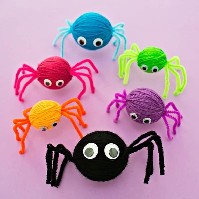 Standing Yarn Spiders