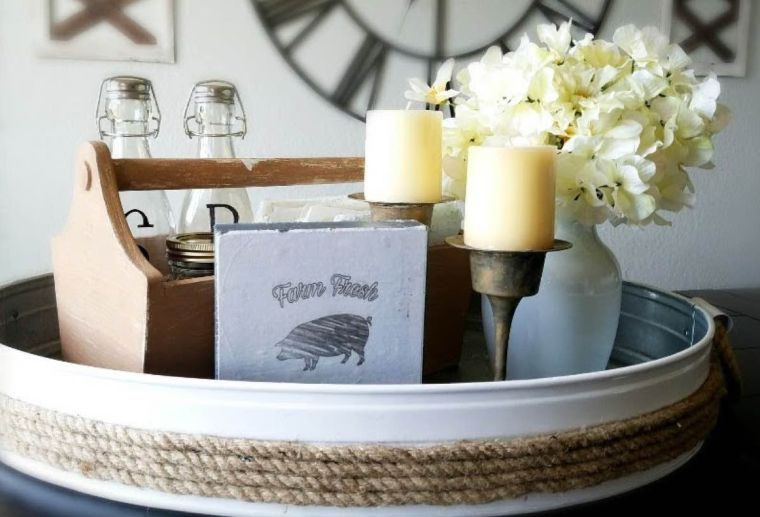 DIY Farmhouse Tray Centrepiece