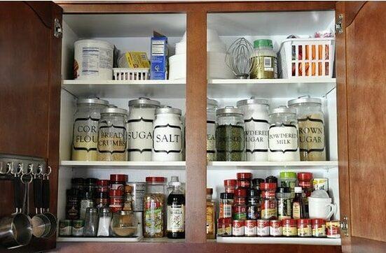 Organized Dry Good Cupboard