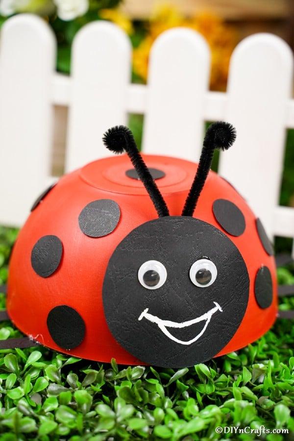 Upcycled Ladybug Bowl