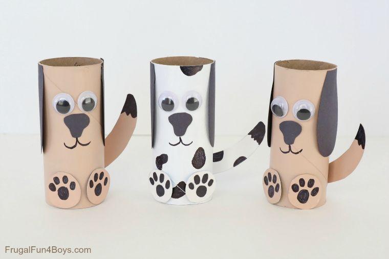 Cardboard Tube Dogs