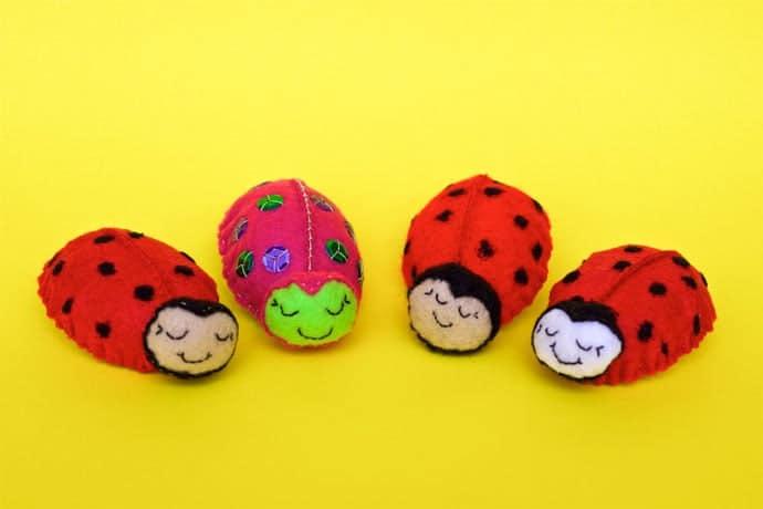 Felt Ladybug Brooch