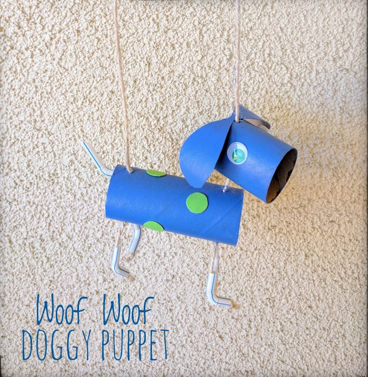 Doggy Toilet Tube Puppet