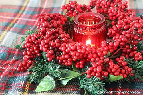 Holly Berry Christmas Wreath
