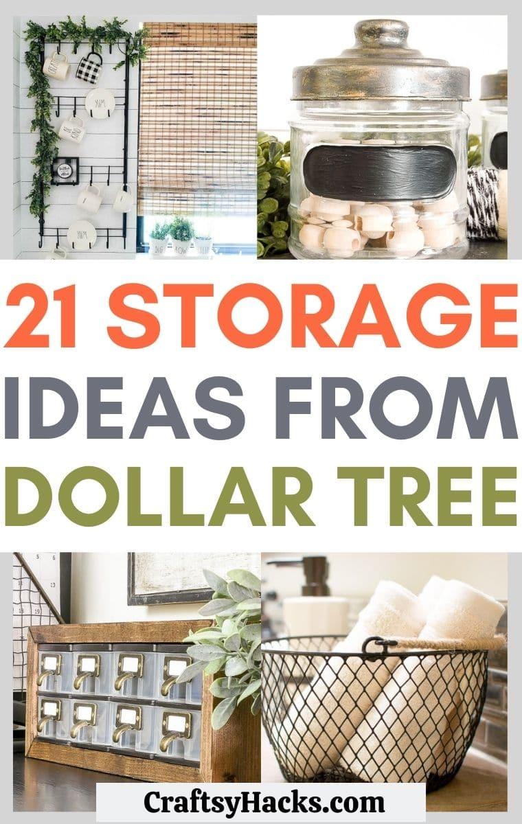 dollar tree storage ideas