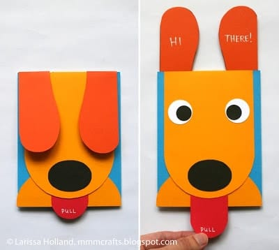 Puppy Pull-Up Ears Card