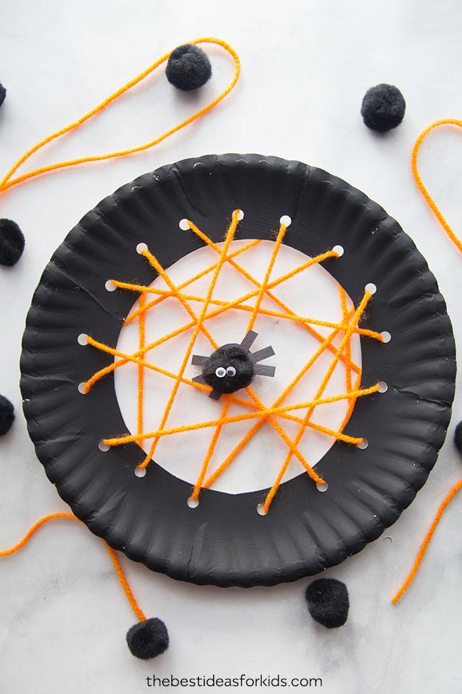 Woven Paper Plate Spiderweb
