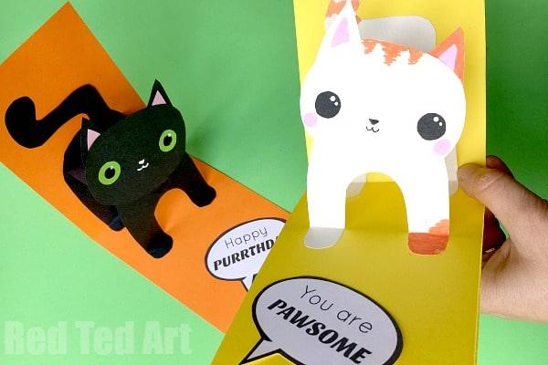 3D Cat Card DIY