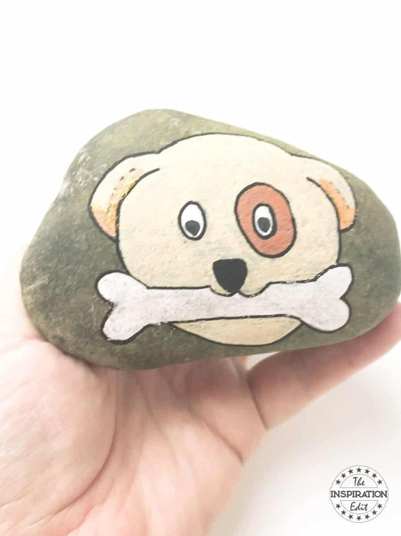 Painted Puppy Rock Pet