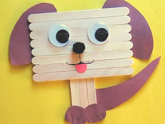 Popsicle Stick Puppy Dog