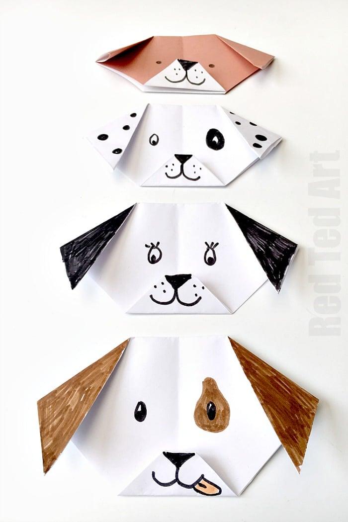 Easy Origami Puppy
