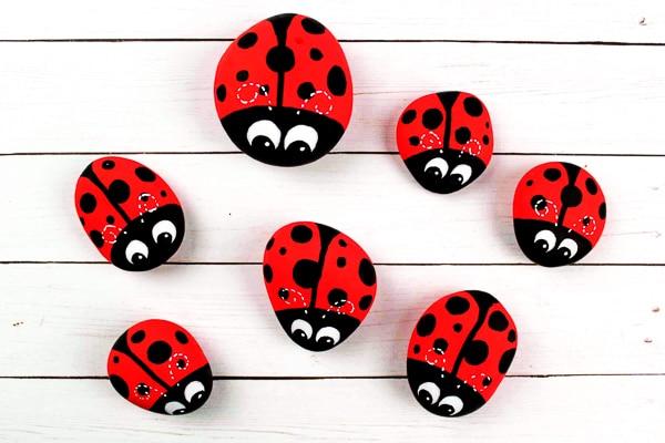 Ladybug Rock Pets