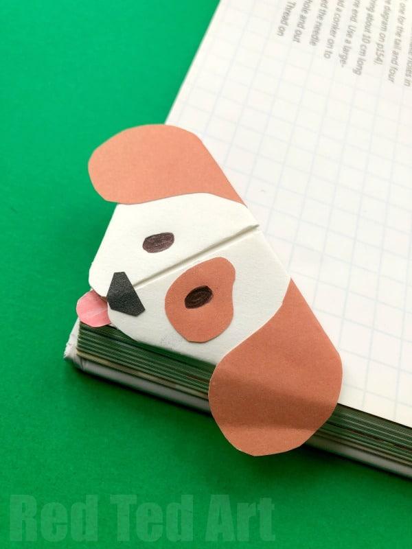 Origami Dog Corner Bookmarks