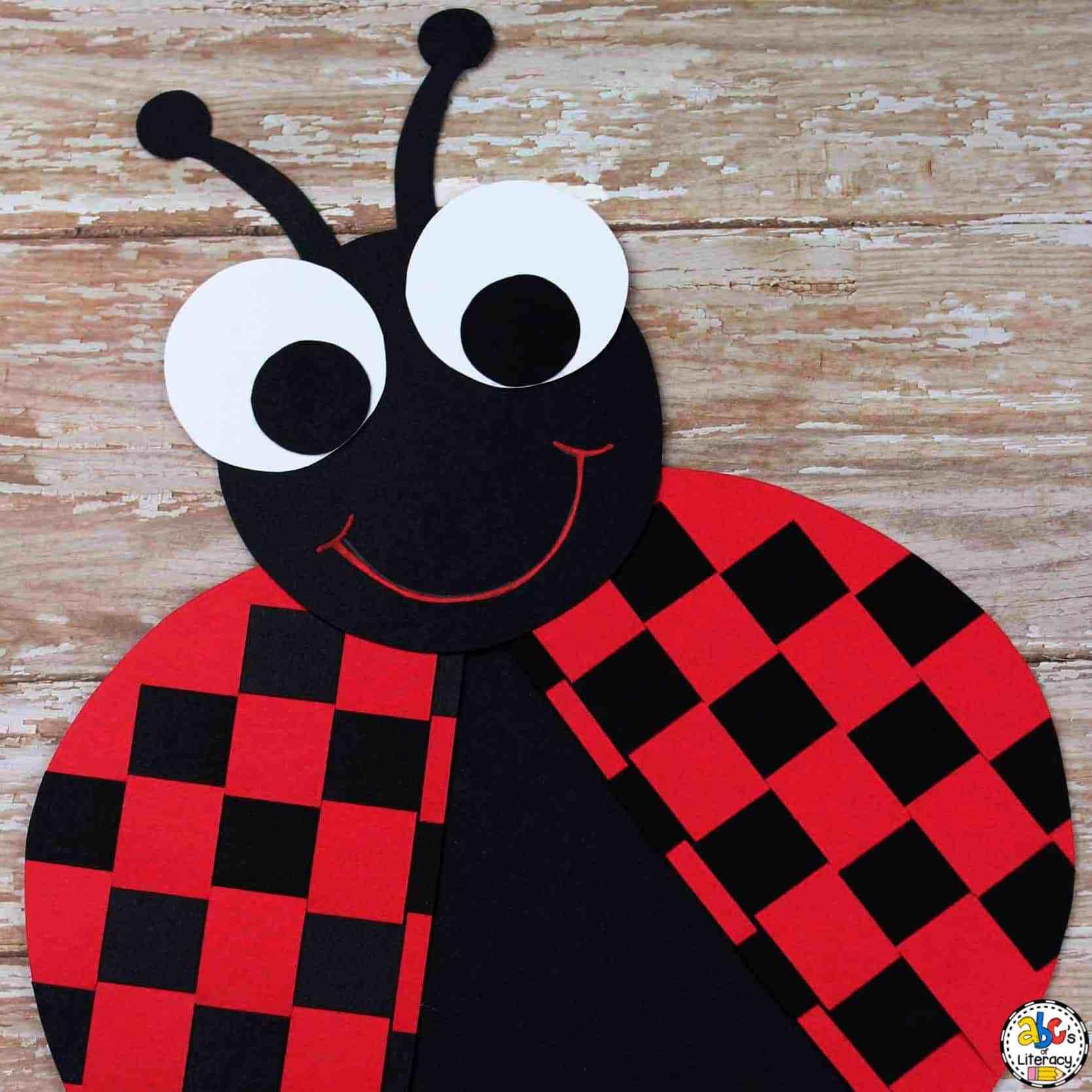 Paper Weaving Ladybug Craft
