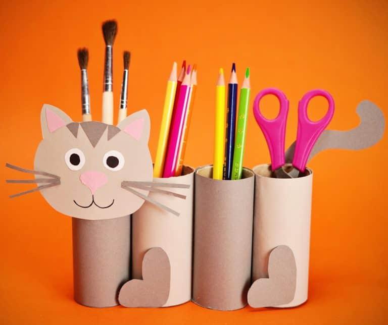 Cat Paper Roll Desk Organiser