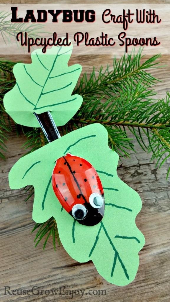 Upcycled Plastic Ladybug Spoons