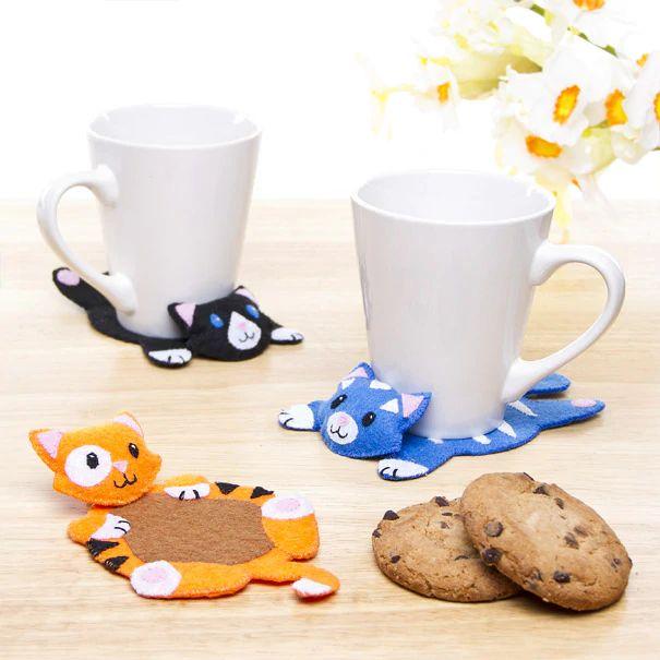 Fabric Cat Coasters