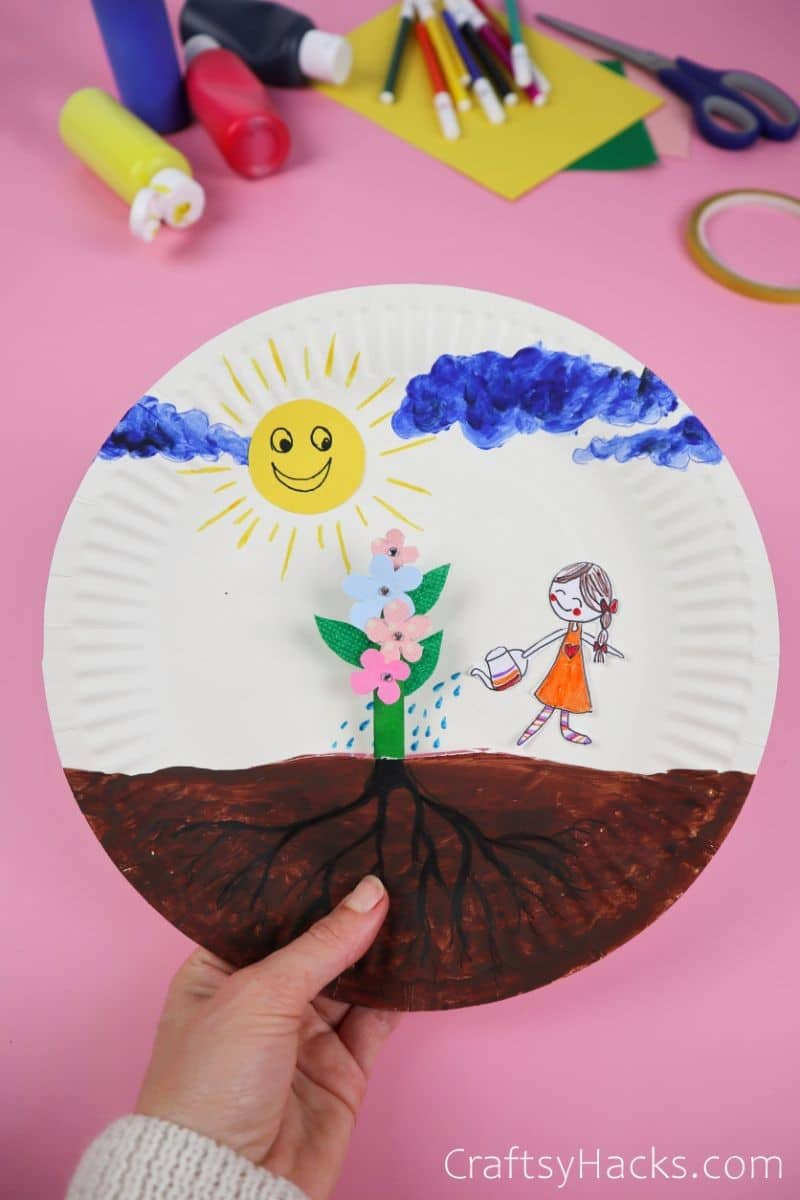 paper plate flower craft ideas