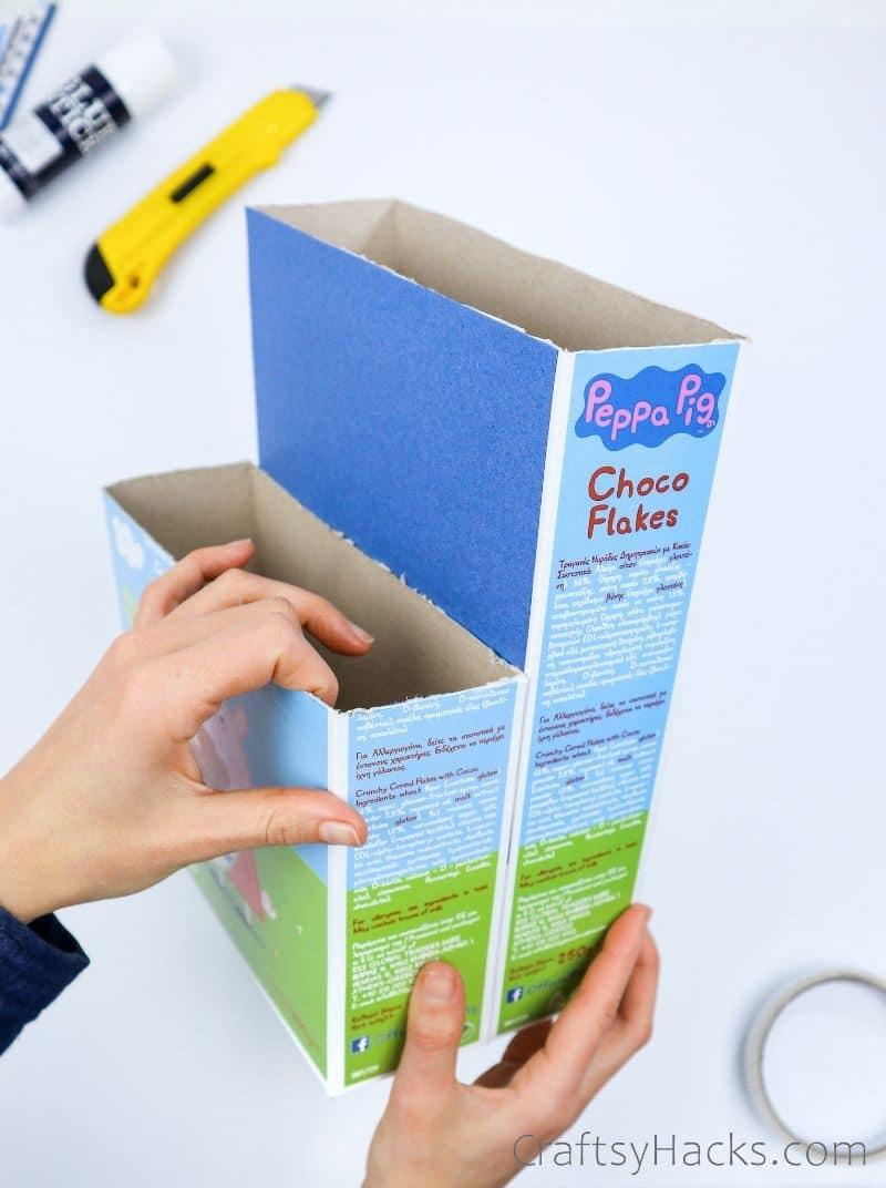 attaching box to adhesive