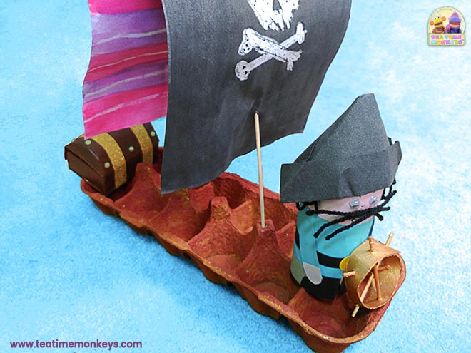 Eierkarton Piratenschiff