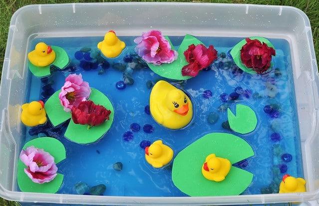 Rubber Duck Sensory Bins