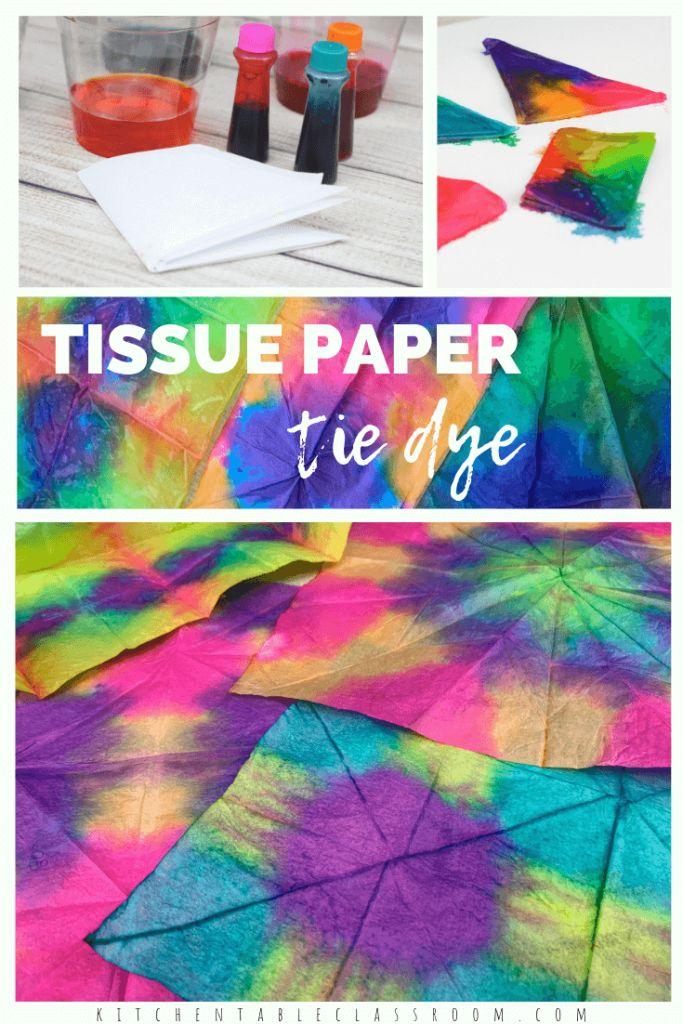 Tie-Dye with Tissue Paper