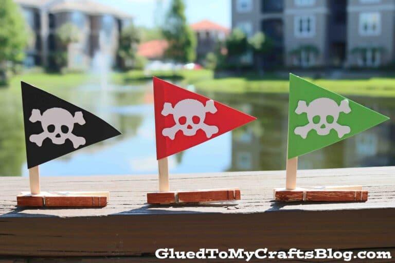 Wäscheklammer-Piratenschiffe